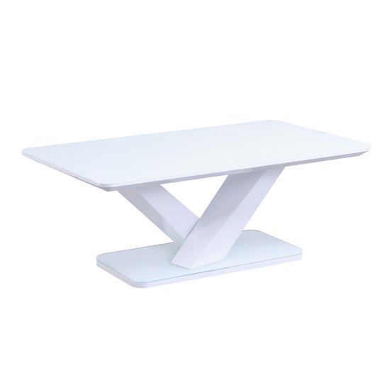 Rafael High Gloss Coffee Table In White