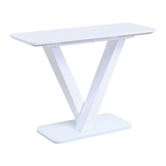 Rafael High Gloss Console Table In White_1