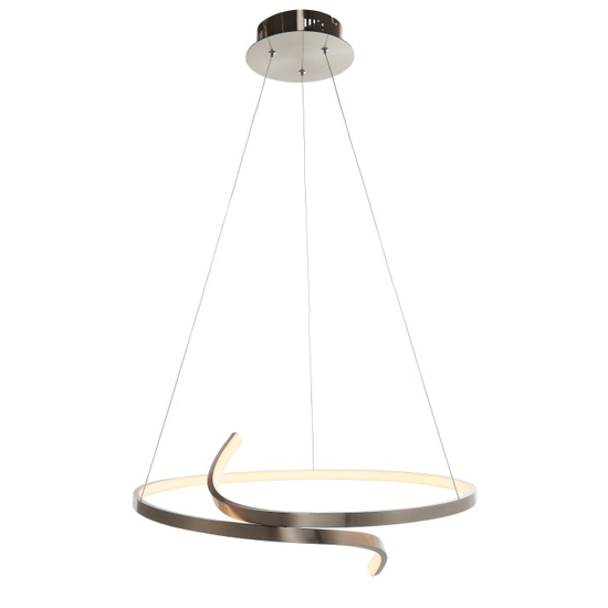 Rafe Wall Hung Pendant Light In Satin Nickel