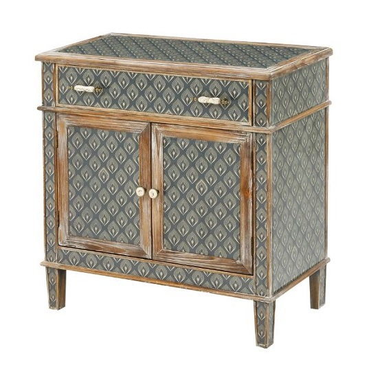 Ralston Two Doors Storage Cabinet In Aztec And Peruvian Design