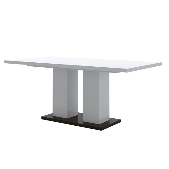 Ramet Wooden Dining Table In White Gloss And Grey Lacquered_1