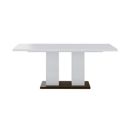 Ramet Wooden Dining Table In White Gloss And Grey Lacquered_2