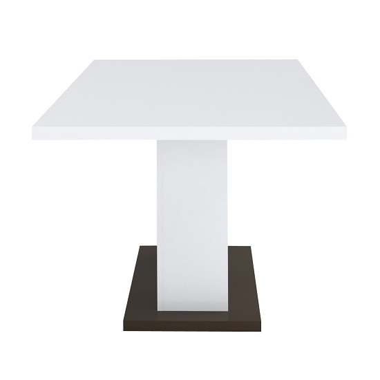 Ramet Wooden Dining Table In White Gloss And Grey Lacquered_3