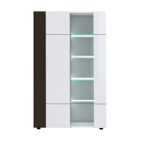 Ramet Display Cabinet In White Gloss And Grey Lacquered_3