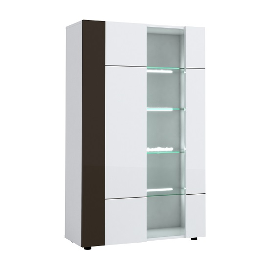 Ramet Display Cabinet In White Gloss And Grey Lacquered_2