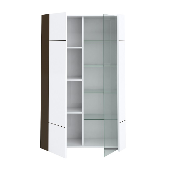 Ramet Display Cabinet In White Gloss And Grey Lacquered_4