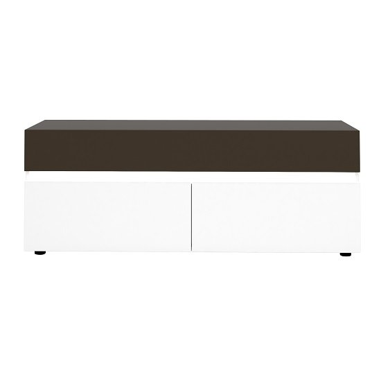 Ramet Small TV Stand In White Gloss And Grey Lacquered_2