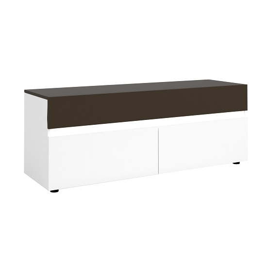 Ramet Small TV Stand In White Gloss And Grey Lacquered_4