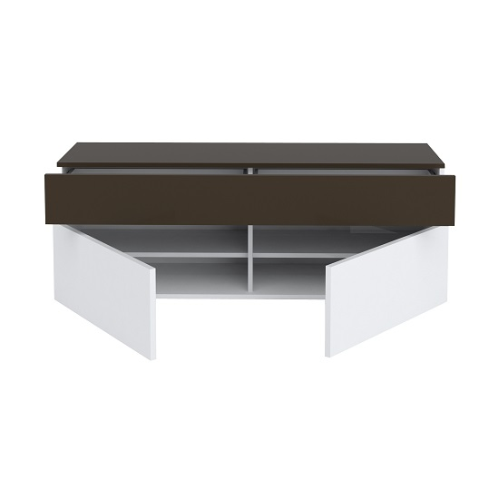 Ramet Small TV Stand In White Gloss And Grey Lacquered_3