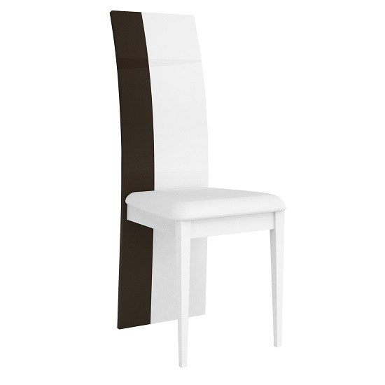 Ramet Dining Chairs In White And Grey Lacquered In A Pair_3