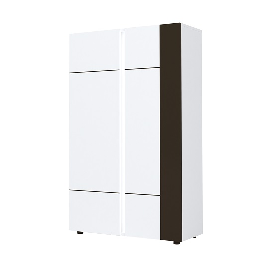 Ramet Wooden Highboard In White Gloss And Grey Lacquered