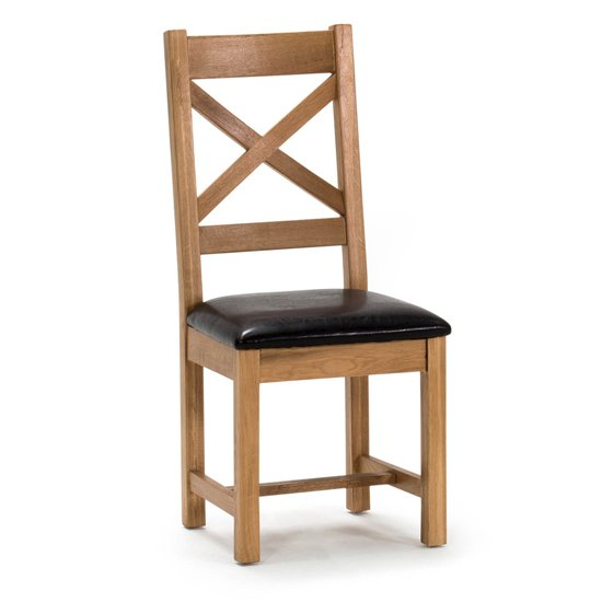 Ramore Cross Back Wooden Dining Chair In Natural