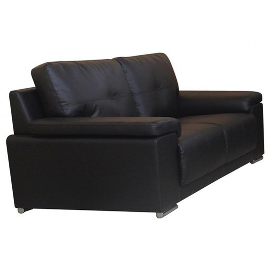 Ranee Bonded Leather And PU 2 Seater Sofa In Black_1