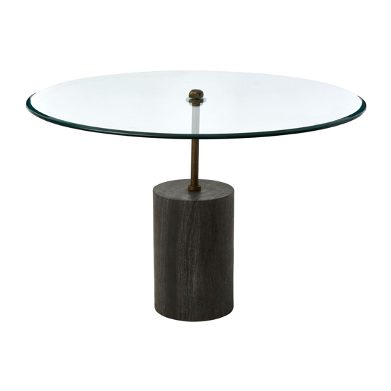 Menkent Large Marble Top Side Table With Black Metal Base