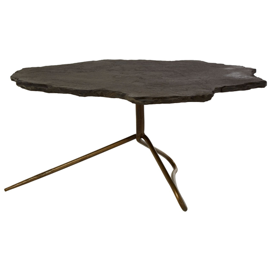 Menkent Stone Top Coffee Table In Black