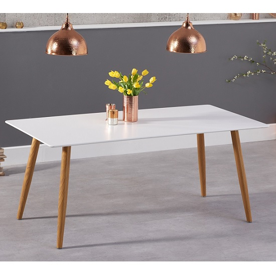 Rauch Wooden Rectangular Dining Table In Matt White