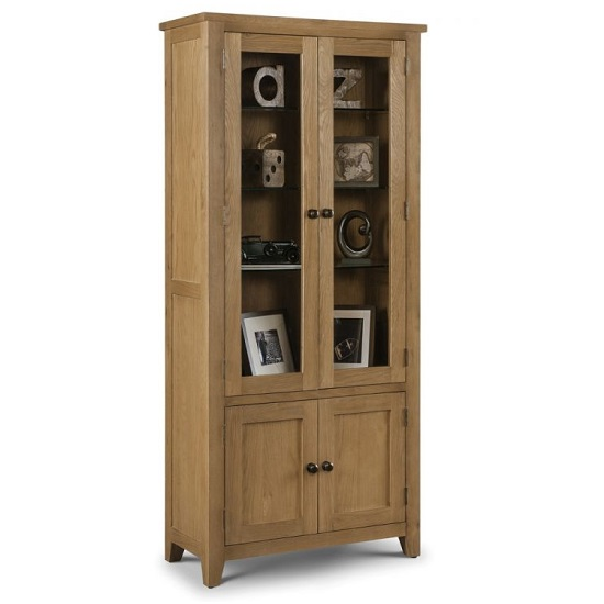 Raven Wooden Display Cabinet In Waxed Oak Finish