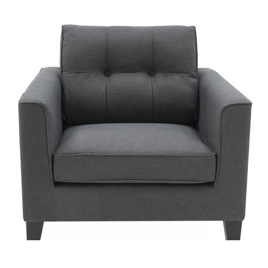 Rawls Fabric Sofa Chair In Charcoal With Wenge Finish Legs_2
