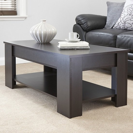 View Raymond coffee table rectangular in espresso with lift up top