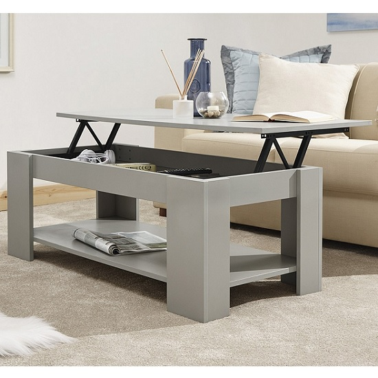Raymond Coffee Table Rectangular In Grey With Lift Up Top_2