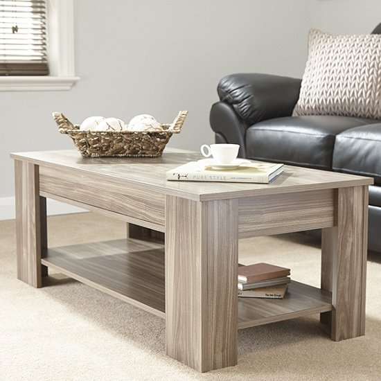 View Raymond coffee table rectangular in walnut with lift up top