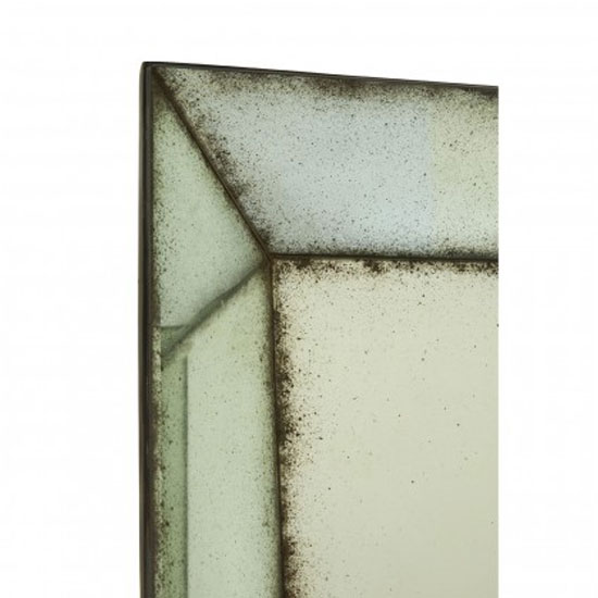 Raze Large Bevelled Edges Wall Mirror In Antique Brass Frame_2