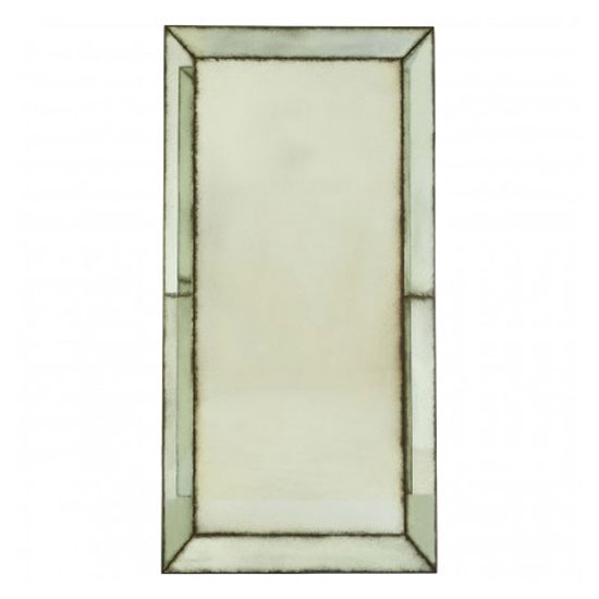 Raze Large Bevelled Edges Wall Mirror In Antique Brass Frame