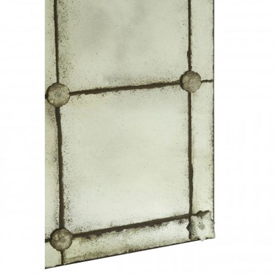 Raze Mosaic Effect Wall Bedroom Mirror In Antique Brass Frame_3