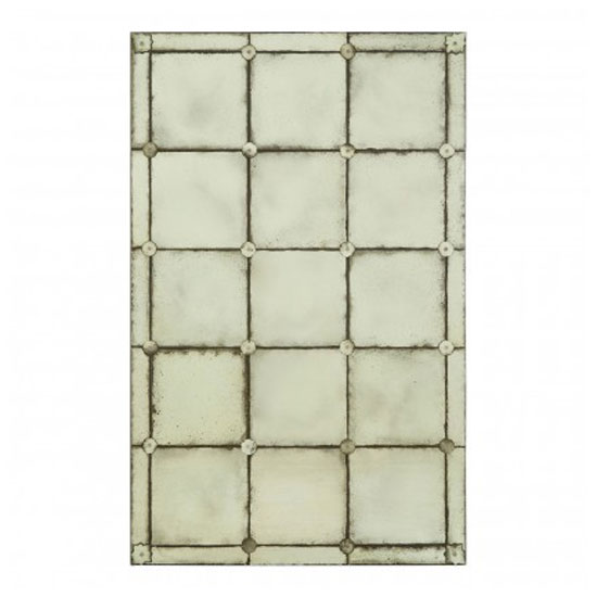 Raze Mosaic Effect Wall Bedroom Mirror In Antique Brass Frame_1