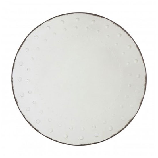 Raze Round Bubble Effect Wall Bedroom Mirror In Silver Frame