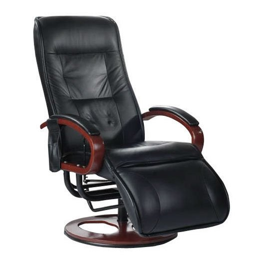 Brisa Faux Leather Massage Recliner in Black 2401829