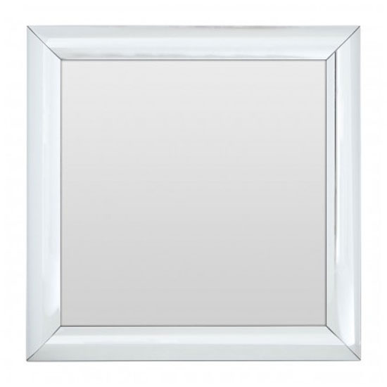 Recon Square Wall Bedroom Mirror In Thick Silver Frame_1