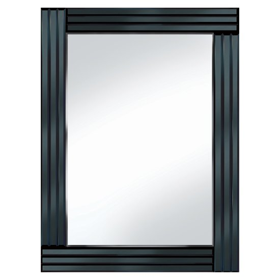Black panel 60x80 rectangle mirror po944blk 15149 for Mirror 60 x 80