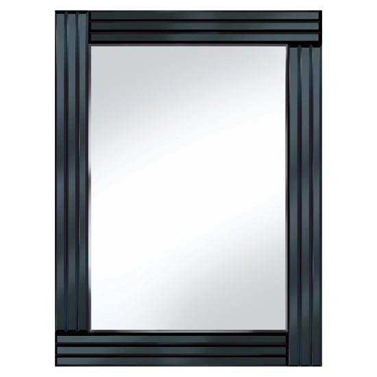 Black panel 60x80 rectangle mirror po944blk 15149 for Mirror 60 x 80