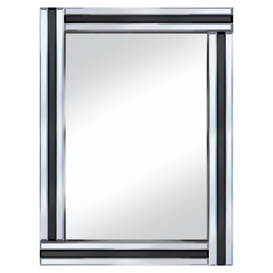 Black stripe 60x80 rectangle mirror po918blk 15144 for Mirror 80 x 60