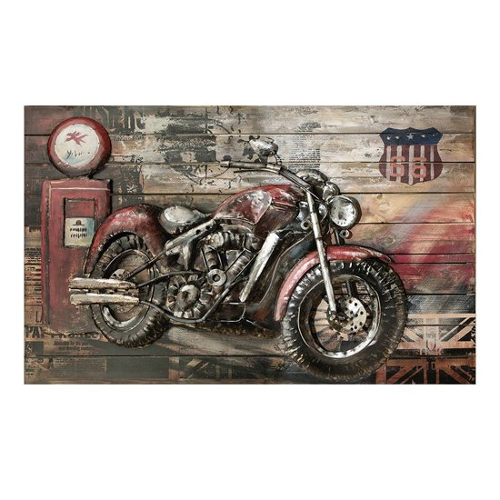 Red Beast Picture Metal Wall Art In Multicolor