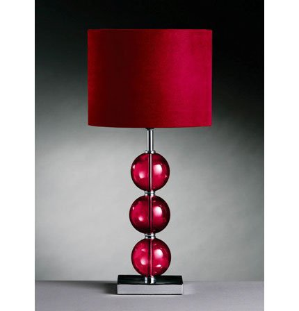 Mistro Table Lamp In Red With Chrome Base