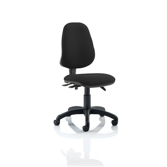Redmon Fabric Office Chair In Black Without Arms