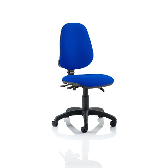 Redmon Fabric Office Chair In Blue Without Arms