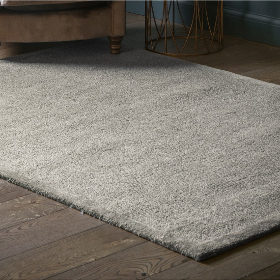 Reecota Polyster Fabric Rug In Taupe