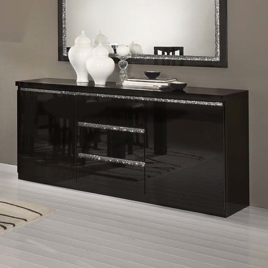 Regal Sideboard In Black With Gloss Lacquer_1