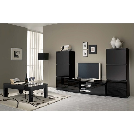 Regal Living Room Set 1 In Black With High Gloss Lacquer_2