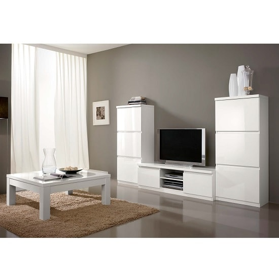 Regal Coffee Table Rectangular In White With High Gloss Lacquer_2