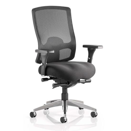 Regent Office Chair With Black Mesh Seat And Arms