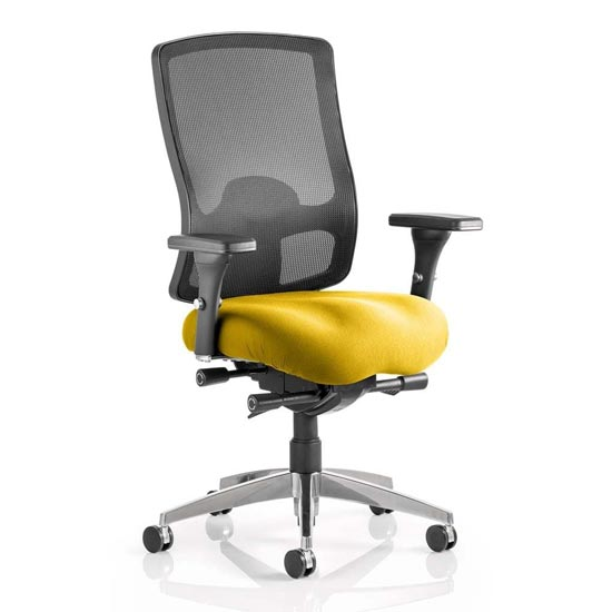 Regent Office Chair With Senna Yellow Seat And Arms