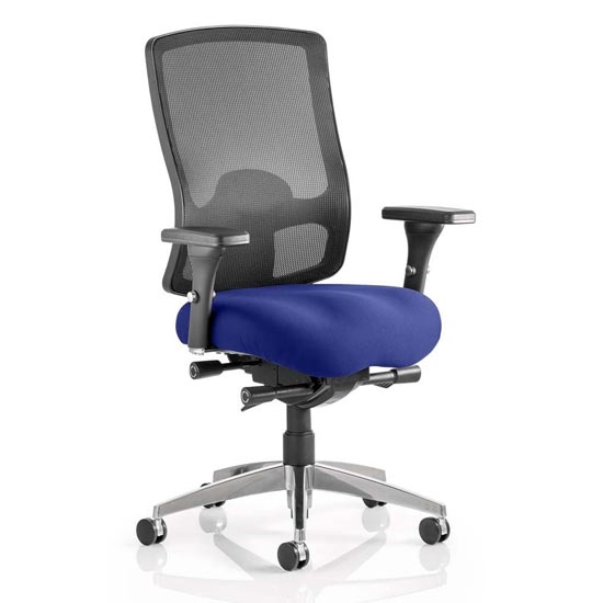 Regent Office Chair With Stevia Blue Seat And Arms