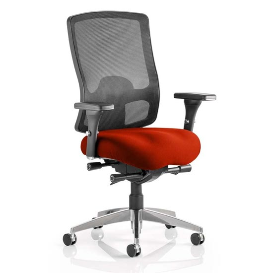 Regent Office Chair With Tabasco Red Seat And Arms