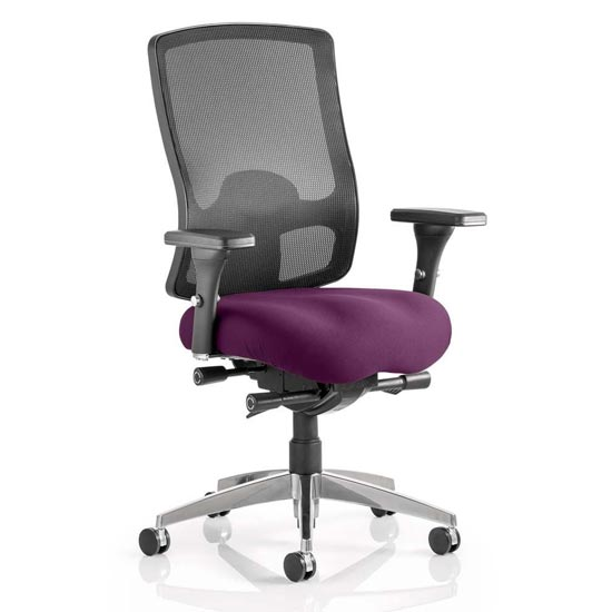 Regent Office Chair With Tansy Purple Seat And Arms_1