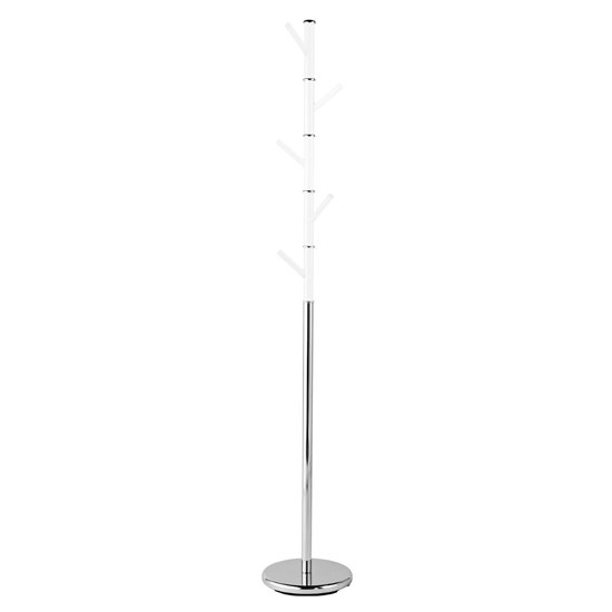Rekani Acrylic Coat Stand With Silver Metal Base