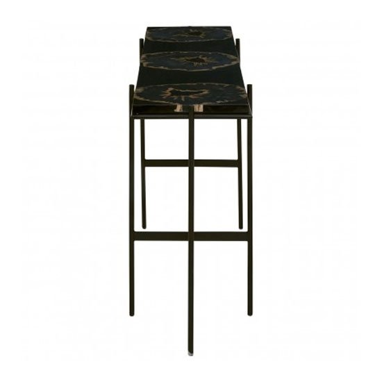 Relics Console Table In Black With Resin Powder Coated Frame_3